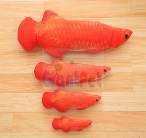 Vivid chat oreiller poisson farci menthe animal de compagnie simulation peluche rouge / or / argent arowana 60 cm