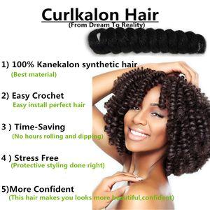 KANEKALON TWIST MARLEY TWIST EXTENSÕES DE CABELO SINTÉTICO BOUNCY TWIST OMBRE Curlkalon trança sintética HAIR extensões de cabelo crochê