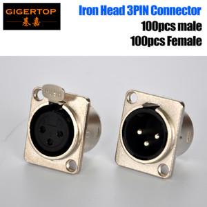 ТП-С02 200шт мужской/женский разъем 3pin металлический корпус светодиодный свет этапа сигнала гнездо аттестация ul обслуживание OEM 24 мм стандарт