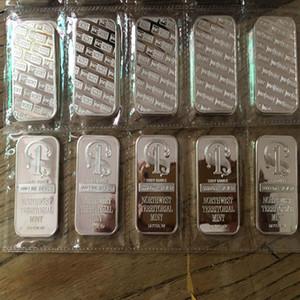 5 pcs Um Oz real prata banhado Northwest Número um Bullion Bar Coin 50 x 28 pacotes de plástico mm Vacuum não magnético 5 pcs um bar fileira
