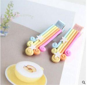 El nuevo arcoiris de la horquilla de la seguridad del bebé del bebé de Corea del Sur ls tocado llave en mano de la horquilla
