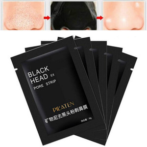 50 pz / lotto Pilaten Black Mask Assistenza facciale Naso Blackhead Remover Minerali PORE Cleanister Maschera Black Head Strip Maquiagem