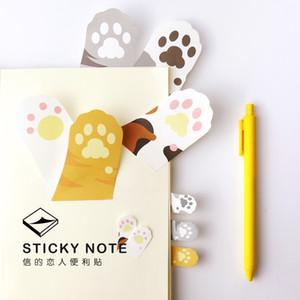 All'ingrosso 6 pc / lotto Meow Kawaii gatto artiglio note adesive sticker adesivo memo pad Messaggio Stationery Office forniture Accessori per la scuola 6107