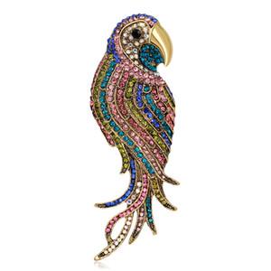 Moda Kuş kadınlar için broşlar Düğün Broş büyük Böcek pimleri ve broşlar bayanlar Broş Fular Giyim Tesettür iğneler Yukarı