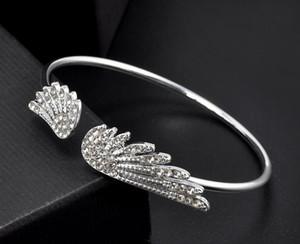 Nova moda na moda asas de anjo com strass pulseira charme pulseiras clássico moda jóias de abertura pulseira de design para mulheres aa142