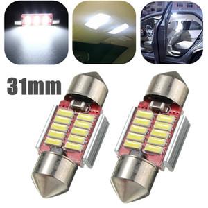 5PCS / LOT عالية الجودة للسيارات سيارة 31MM 10 SMD 4014 LED في canbus خالية من الأخطاء الداخلية اكليل الموت لمبة الضوء الأبيض النقي DC12-24V