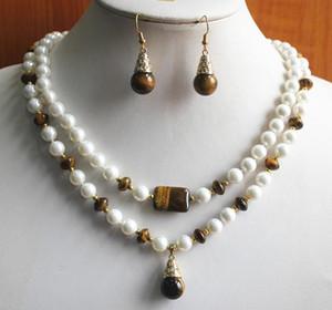 Femmes de mariage en gros Noblest collier de perles vert Jade boucle d'oreille set18KGP plaqué or montre Quartz pierre CZ cristal