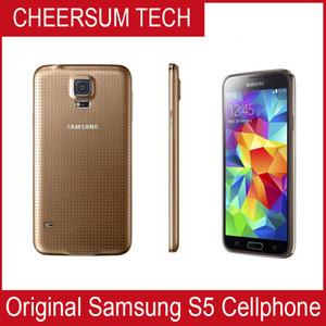 """Original Desbloqueado Samsung Galaxy S5 G900 Telemóveis 5.1"""" Super Quad Core 16GB ROM Android remodelado celular"""