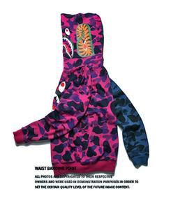 남성 여성 Sportwear Coat Jogger 트랙 슈트 지퍼 양털 운동복 Crewneck 새 OVO 드레이크 블랙 힙합 후드 티 남성 Love Shark mouth Styssa