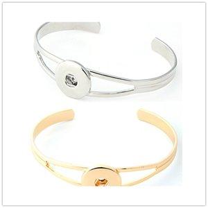 Neueste Design Ingwer Snap Silber Gold Armband Druckknöpfe NOOSA Brocken Armbänder Für Frauen Fit 18mm Snap Charme Schmuck
