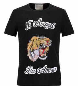2017 NOVA Venda Quente T-Shirt Dos Homens Shortsleeve Jersery Algodão T dos homens de Design Da Marca Impresso Tiger Bird Cobra Crew Collar Casual Tops Masculino