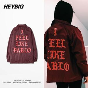 Atacado- Eu sinto como estilo americano músico Hiphop Jacket homens terno 2016 nova chegada HEYBIG Windbreaker chinês tamanho M-3XL