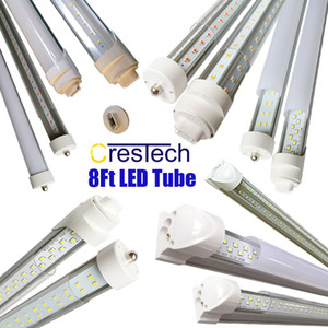 R17D FA8 LED 8FT tubo Lâmpada 72W 7200LM 45W 4500LM Double Side V Forma Integrada 8 Foot LED luminárias LED T8 Loja de Iluminação,