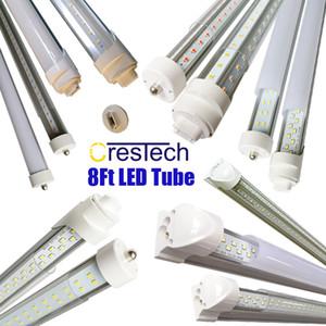 R17D FA8 8FT LED Tube Лампочка 72W 7200LM 45W 4500LM Double Side V Форма Интегрированный 8 Foot светодиодные светильники T8 LED магазин освещения,