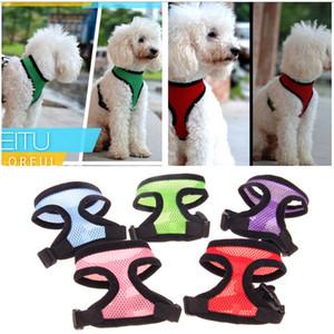 Confortável Ajustável Macio Respirável Dog Harness Pet Vest Corda Cão Peito Strap Leash Set Collar Leva Arnês