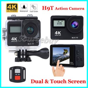 New Günstige Dual Screen Sport Kamera H9T 4 Karat Ultra HD Action Kamera 2,0 Zoll Touchscreen 30 Mt Wasserdichte Fernbedienung Mini DV