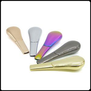 Regenbogenpfeifen Metallmagnet Pfeife Zinklegierung Magnet 95mm Länge 24mm Durchmesser Tabakpfeifen Zigarettenpfeifen