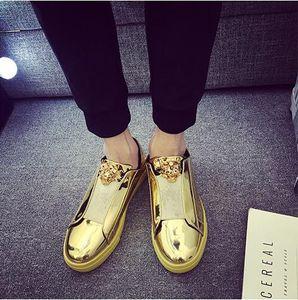 Корейская версия тенденции лакированной кожи мужская обувь яркая панель обувь досуг личности педаль ленивый обувь