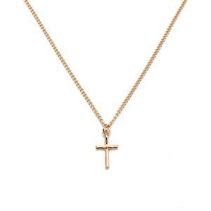 2017 Mode Bijoux Bijoux Or Argent Pendentif Croix En Alliage En Métal Mince Chaîne Collier Ras Du Cou Pour Femmes Fille Comme Cadeau Fe