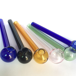 10 см дешевые красочные Pyrex стекло масло горелки трубы стеклянная трубка курительные трубы tobcco трава стекло масло ногти