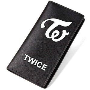 Dos veces monedero Carril Una vez bolso de grupo Música posavasos largo Caja de billetes de efectivo Billete de dinero Bolso burse de cuero Titulares de tarjetas