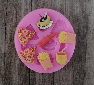 10 UNIDS / LOTE, Pizza Strip Fondant Cake Galletas de Chocolate Sugarcraft Molde Cortador Molde de silicona Bebé molde Hornear Herramientas DIY ¡Venta caliente!