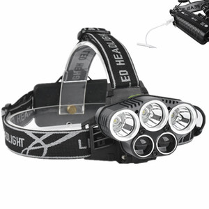 LED Far 5 CREE XM-L T6 Q5 Far 15000 lümen LED USB Far Kampı Zammı Acil Işık Balıkçılık Açık