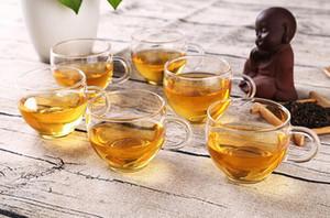 100ml copos de vidro resistente ao calor caneca Bebida Limpar artesanal de cristal Mini kungfu Chá Café Leite Chá Rodada