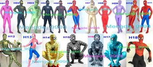Traje de Spiderman unisex 18 colores Lycra Spandex Spiderman Hero Disfraces de Catsuit Traje de Spiderman Unisex traje de Halloween Cosplay M145