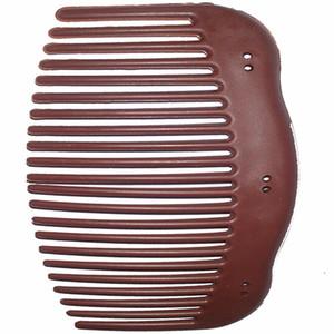 100pcs / lot Brown-Kamm-Haarschmucksachen afrikanischer Schmetterling DIY des Kammes des Kammes magisches, das Kamm-Klippzusätze bildet