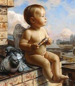 5D рукоделие Diy Алмаз живопись вышивки крестом комплекты полный смолы круглый Алмаз вышивка мозаика Home Decor мультфильм ангел y0036