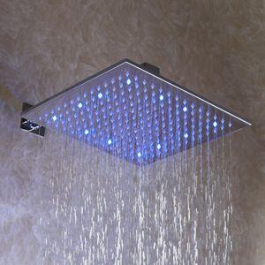 12 polegadas, cromo quadrado cabeça de chuveiro de chuva de LED sobrecarga (d003-2)