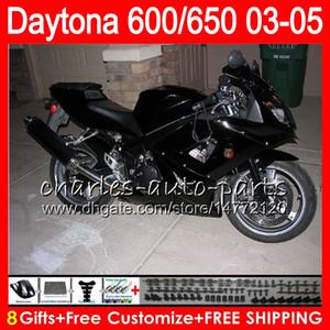 8 cadeaux 23 couleurs pour triomphe Daytona 600 650 03 04 05 Daytona600 Glossy Noir 3hm30 Daytona650 Daytona 650 600 2003 2004 2004 Catériel noir