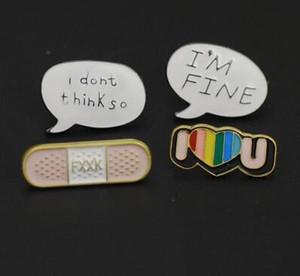 Cartone animato giapponese simpatico smalto Spilla Lettera di gioielleria per studenti I LOVE U goccia smalto Spilla Pin Badge Pinback Button Corsage