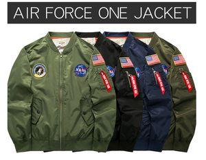MAA Uomo MA1 Giacca Bomber Insignia USAF Kanye West Hip Hop Sport Giacca a vento maschile Bandiera Uomini Primavera Sezione sottile Cappotti Plus size 6XL