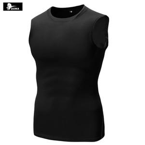 Nuevo 2017 Summer Men Pro Wear Medias de fitness Elástico sin mangas Chaleco de compresión de secado rápido B5002 Crossfit Fit Capa base