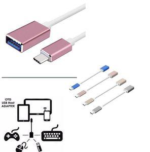Type-C OTG Date Câble Connecteur USB 3.1 3.0 Type C à Femelle OTG Câble Adaptateur Pour OnePlus 3 Pour Lenovo nouveau