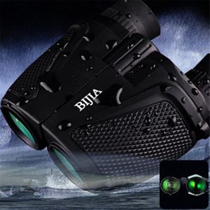 Бинокулярный бинокль BIJIA Porro BK4 Бинокль призмы Водонепроницаемый бинокль ночного видения 12 x 25 HD 83 м / 1000 м Ультрачистый телескоп + B