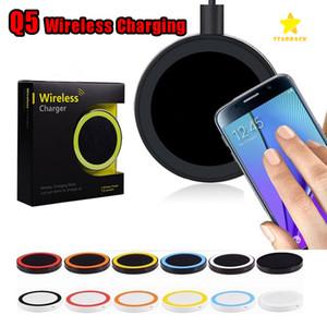 Drahtloses Ladegerät Q5 QI Schnellladen für Samsung S8 Plus S7 S6 iPhone mit Kleinpaket