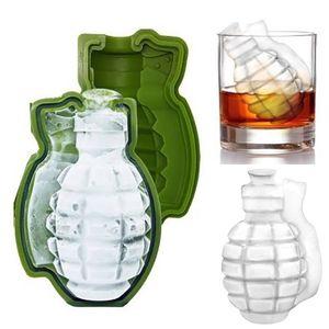Nouveau 3D Grenade Forme Ice Cube Moule Creative Silicone Ice Moulds Outil De Bar De Cuisine cadeau Crème Glacée Maker Plateaux Moule En Stock WX-C74