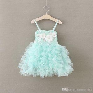 2017 vente chaude nouveaux styles fille fleur jupe Casual fille élégante bretelle Fashion Princess Dress livraison gratuite