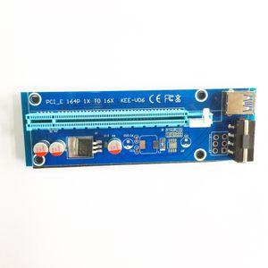 2017 Yeni PCI-E PCIe PCI Express Kablo Kartı 1x için 16x Yükseltici USB 3.0 Genişletici Kablo ile Sata 4Pin IDE Molex Güç Kaynağı için 60 cm kablo