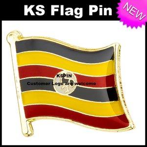 Il perno 10pcs della bandiera del distintivo della bandiera dell'Uganda trasporto libero KS-0185
