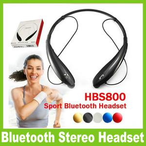 HBS 800 HBS800 سماعة بلوتوث لاسلكية سماعة الرياضة بلوتوث 4.0 سماعة يدوي سماعات في الأذن لا شعار مع مربع التجزئة OM-CD3