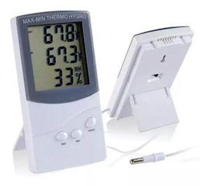 LCD Indoor / Outdoor Termômetro Digital higrômetro temperatura umidade metros de exibição tempo TA318 em caixa de varejo em stock 20 peças para cima