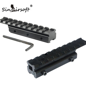 새로운 CNC 가공 전술 도베 일 범위 확장 마운트 11mm에서 20mm Picatinny Weaver Rail Adapter 더브 테일 11mm 레일에 적합합니다.