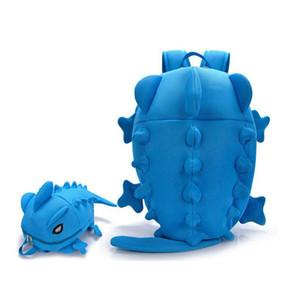 Atacado- Mulheres Mochilas dinossauro monstro mochila animal dos desenhos animados Shoulder Bolsa Escola para adolescentes Meninas Meninos Chameleon Lizard