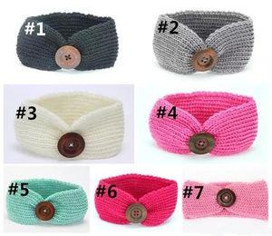 Enfants tricoter Crochet Turban Bandeau Chaud Noeud pour Enfants Cheveux Bandeau Wrap Hairband Ornements Bandeaux Cheveux Accessoires