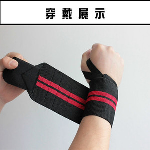 Wholesale- Weightlifting barbell belt Wristband Sport Professional Training Hand Bands Wrist Support Straps Wraps Guards For Gym Fitness