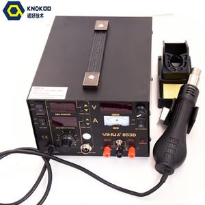 853D 2A 4 LED 5 V USB 3in1 ile REWORKS SOLDERING DEMIR İSTASYONU Braketi Plakalı LED Büyüteç Lamba ile